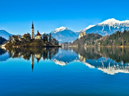 The stunning Lake Bled in Slovenia is part of the Highlights of Croatia, Slovenia and Montenegro