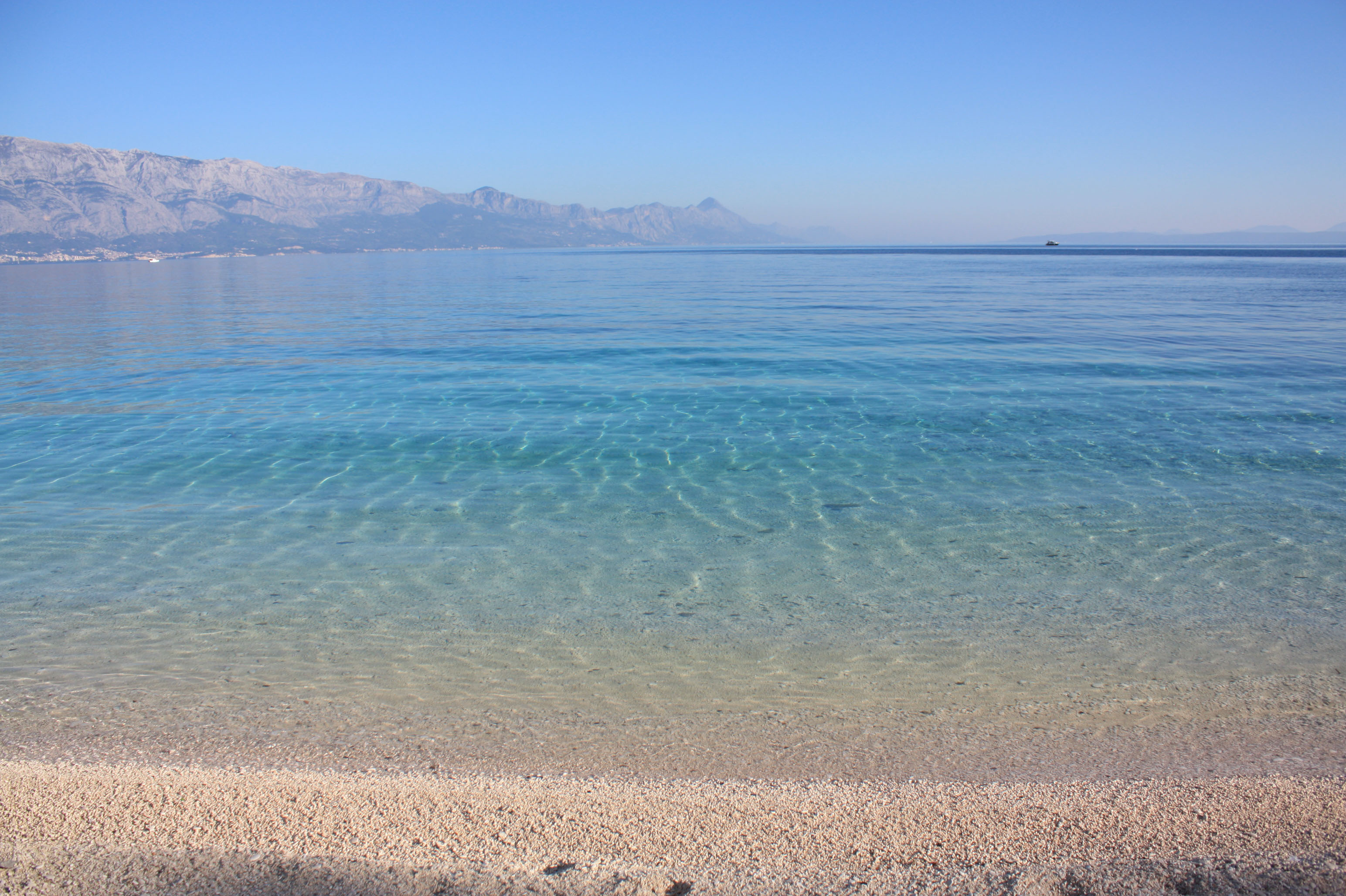 A lot of blue shades in the sea of Brač