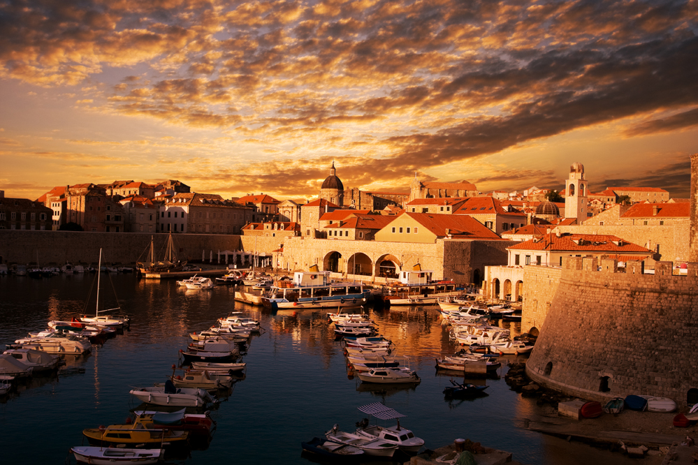 Dubrovnik on sunset