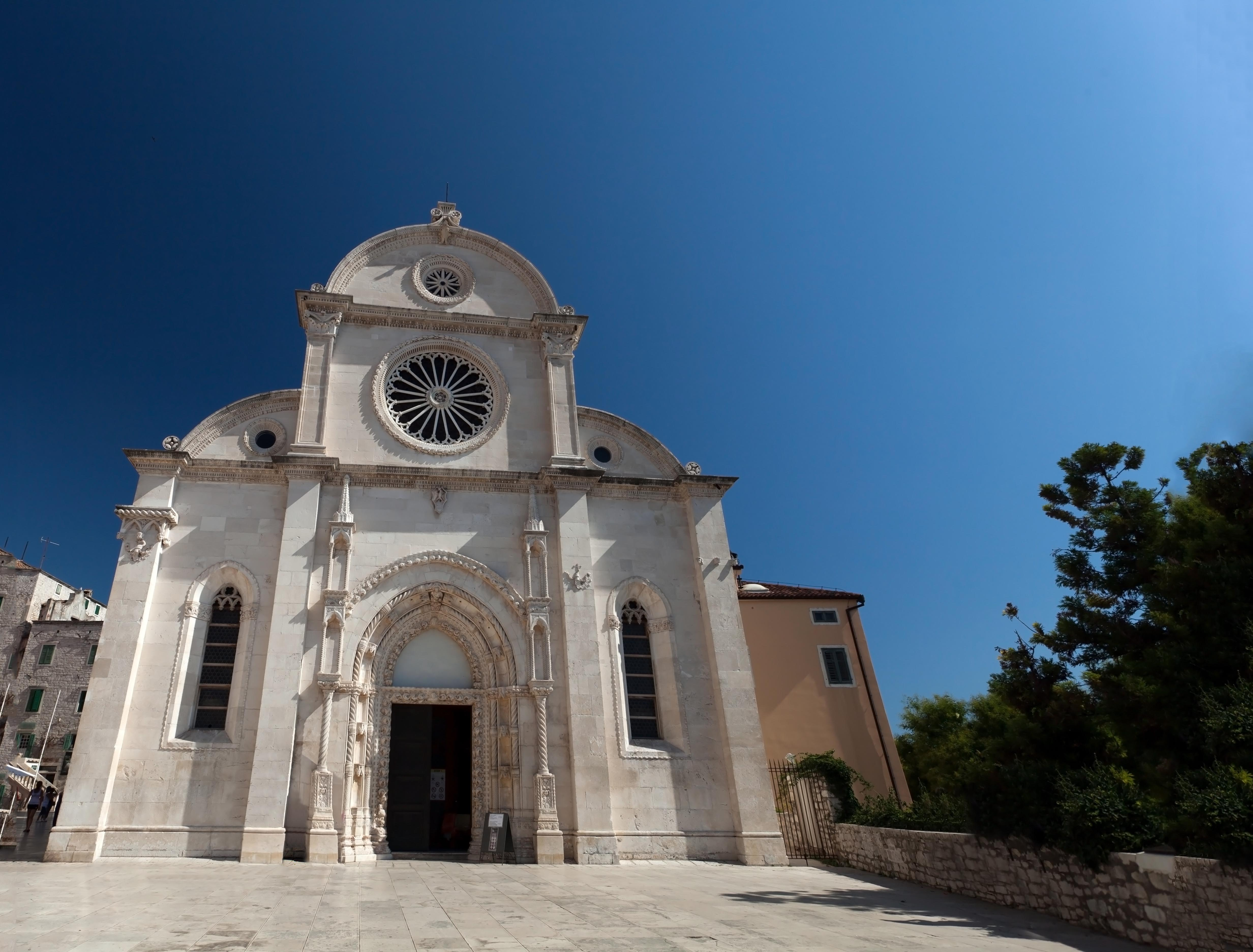 Entrance of St. Jacob's Cathedral, in Sibenik