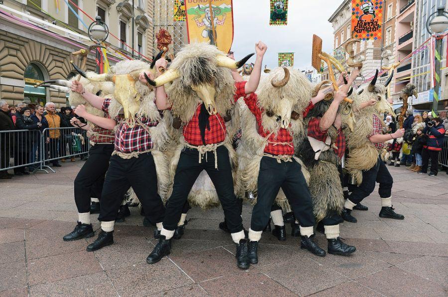 Zvoncari in Rijeka's carnival