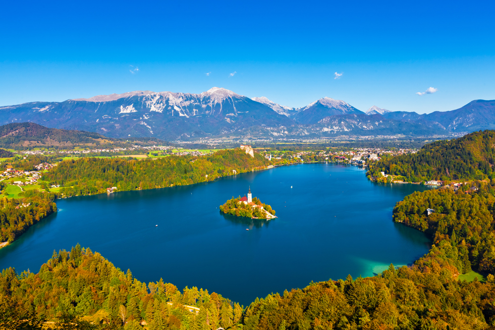 The city of Bled, Slovenia